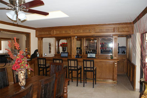 The Ranch House work area - structured sober living in Scottsdale, Arizona