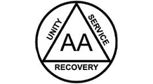 The Alcoholics Anonymous logo: Unity, Service, and Recovery