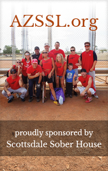 The Scottsdale Sober House sponsored team in the Arizona Sober Softball League