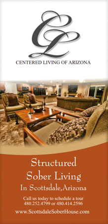 The front cover of the Scottsdale Sober House brochure